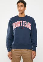 Tommy Hilfiger - Tjm clean collegiate sweatshirt - navy