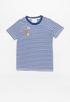 POP CANDY - Striped short sleeve tee - blue & white