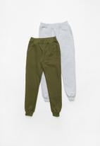 Rebel Republic - 2 Pack sweat pants - khaki & grey
