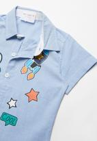 POP CANDY - Printed golf shirt - blue