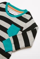 MINOTI - Grey stripe long sleeve pyjama set - multi