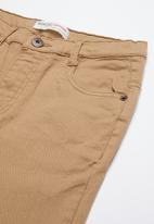 MINOTI - Teens slub twill pant - beige