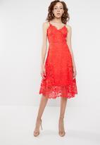 STYLE REPUBLIC - Crochet ladder tea dress - orange