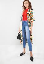 STYLE REPUBLIC - Frill sleeve kimono - multi-colour