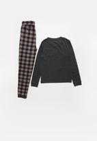 MINOTI - Teens checked long sleeve pyjama set - multi