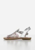 POP CANDY - Girls gladiator sandals - silver