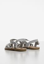 POP CANDY - Baby girls sandals - silver & grey