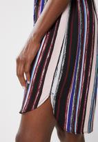 edit - Short sleeve shirt dress - multi