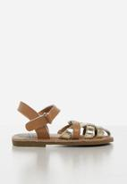 POP CANDY - Baby girls sandals - brown & gold
