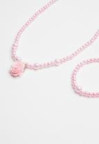 POP CANDY - 2 piece necklace and bracelet set - pink