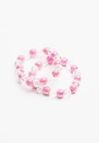 POP CANDY - 2 piece pack bracelet - pink & white