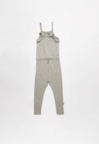 POP CANDY - Girls stretched jumpsuit - grey & gold