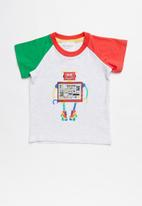 POP CANDY - Boys printed robot tee - multi