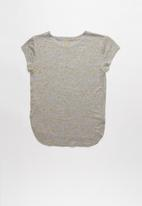POP CANDY - Girls stretched T-shirt - grey & gold