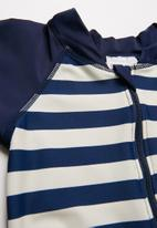 POP CANDY - Stripe one piece - navy & cream