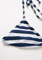 POP CANDY - Stripe bikini - blue & white