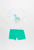POP CANDY - Dino pj set - white & green