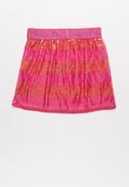 POP CANDY - Girls sequin skirt - pink & orange