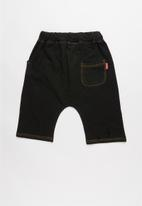 POP CANDY - Boys denim jean shorts - black