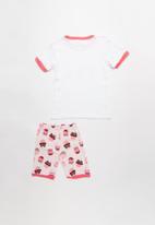 POP CANDY - Cupcake print pj set - pink & white