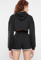 Missguided - Msgd crop hoodie - black