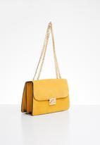 MANGO - Chain leather bag - yellow