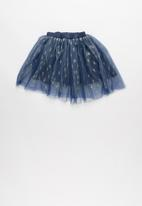 POP CANDY - Mesh skirt - navy