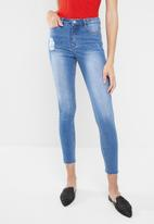 Missguided - Vice high waisted jean stone wash - blue