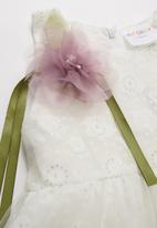 POP CANDY - Printed sleeveless dress - white