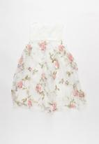 POP CANDY - Embroidered combo dress - white