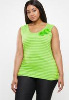 edit Plus - Flower inspired tank top - lime