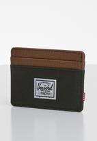 HERSCHEL - Charlie rfid multi slot card holder - black & brown