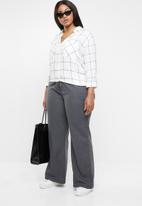edit Plus - Utility linen pants - grey