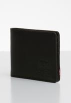 HERSCHEL - Hank leather wallet - black