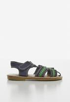 POP CANDY - Baby boys sandals - navy & green