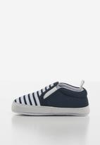 POP CANDY - Infants booties - navy & white