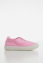 POP CANDY - Canvas slip on mid - pink