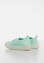 POP CANDY - Canvas slip on - turquoise