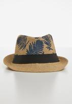 POP CANDY - Straw hat - brown & navy