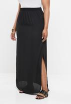 Missguided - Curve maxi skirt with side slit - black