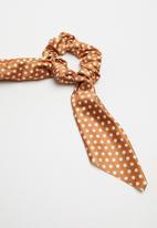 Cotton On - Scarf scrunchie - bronze & white