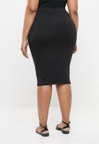 Missguided - Curve jersey midi skirt - black