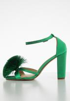 Superbalist - Grace pom pom detail heel - green