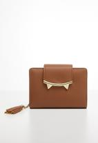 Superbalist - Cat-like-ear detailed purse - brown & gold