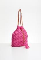 STYLE REPUBLIC - Woven shoulder bag - pink