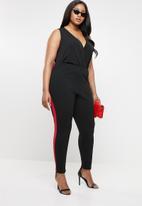 STYLE REPUBLIC PLUS - Wrap bodysuit - black