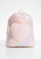 POP CANDY - Backpack with fluffy heart - pink