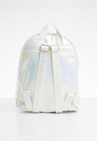 POP CANDY - Backpack with fluffy heart - white