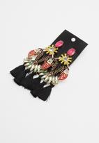STYLE REPUBLIC - Tassel earrings - black