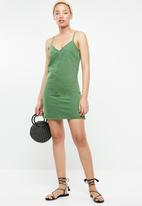 Supré  - The falls denim dress - green